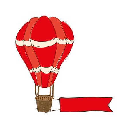 drift: hot air balloon cartoon icon image vector illustration design Illustration