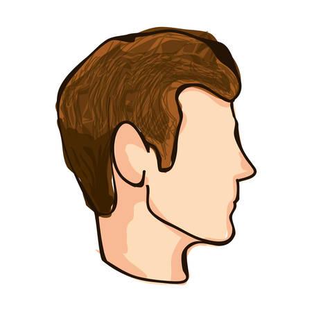 man profile: man profile icon image vector illustration design