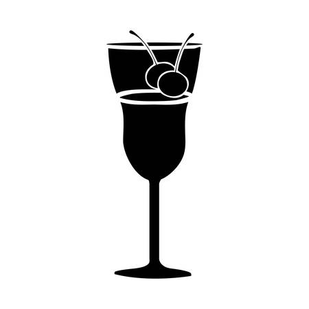 cocktail glass icon image vector illustration design