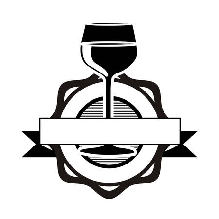 wineglass: wine glass icon image vector illustration design