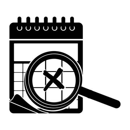 wired calendar icon image vector illustration design Illustration