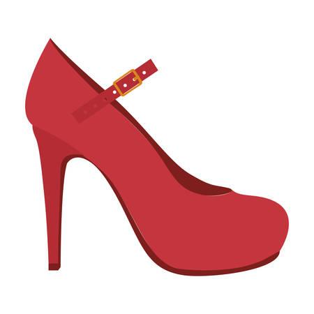 high heel mary jane style shoe icon image vector illustration design Illustration