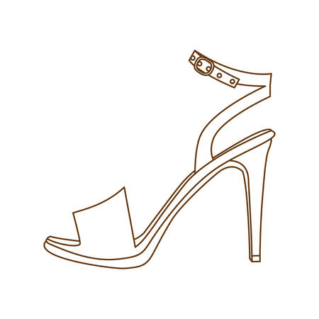 high heel sandal shoe icon image vector illustration design