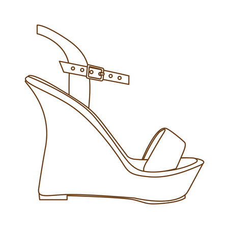 wedge sandal shoe icon image vector illustration design