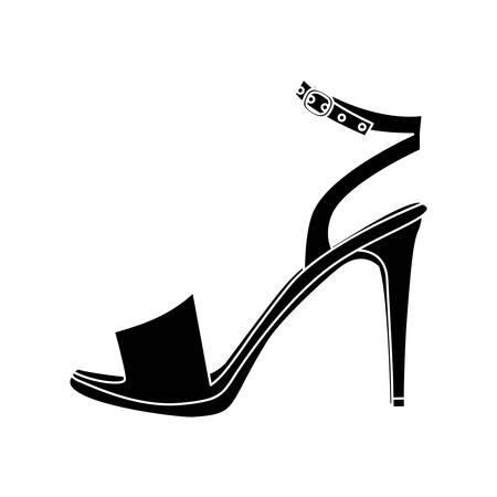 high heel shoe: sandal high heel shoe icon image vector illustration design Illustration