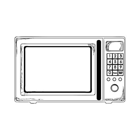 microwave oven: microwave oven icon image vector illustration design