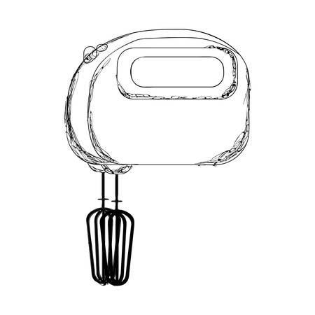 electric mixer: electric mixer or beater icon image vector illustration design