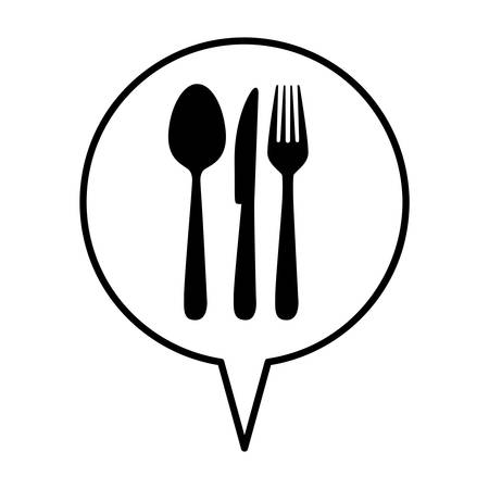cutlery spoon knife fork icon image vector illustration design