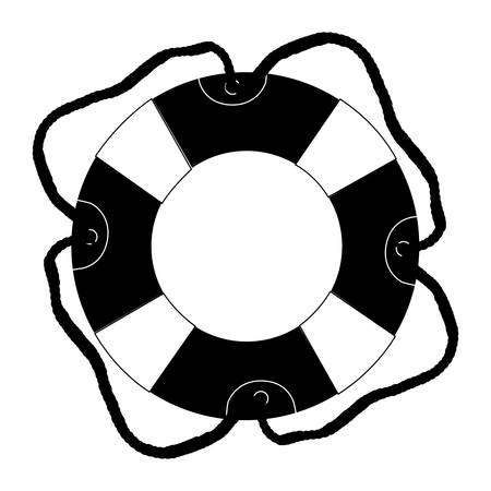 preserver: life preserver icon image vector illustration design Illustration