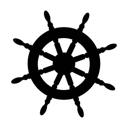boat rudder icon image vector illustration design Illustration