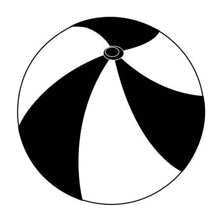 beach ball icon image vector illustration design