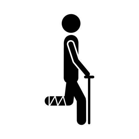 injured person: injured person icon image vector illustration design Illustration