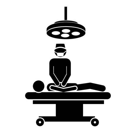 pacient: medical doctor and pacient icon image vector illustration design