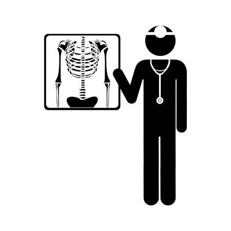 Una radiografía de tórax imagen icono de ilustración vectorial de diseño