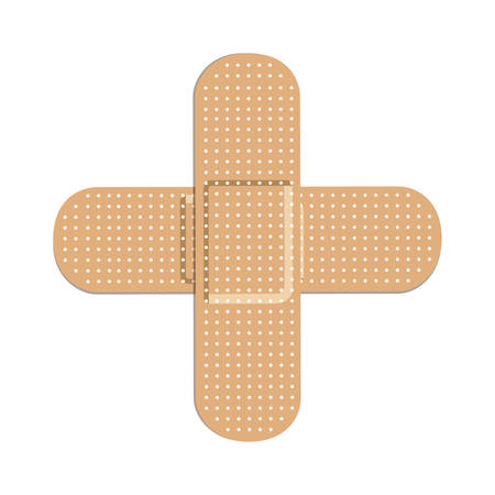 wound care: two bandages icon image vector illustration design