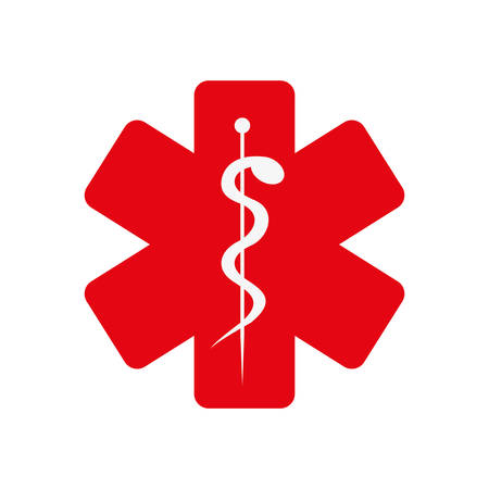heatlhcare asclepius rod icon image vector illustration design