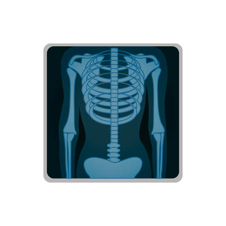 radiological: chest x-ray icon image vector illustration design