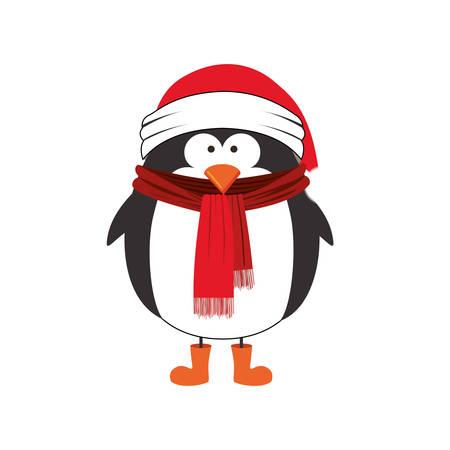 penguin cartoon icon image vector illustration design