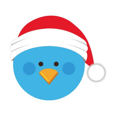 drift: christmas bird cartoon icon image vector illustration design Illustration