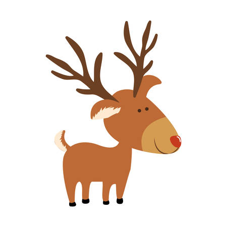 red nose: red nose rudolph deer cartoon icon image vector illustration design