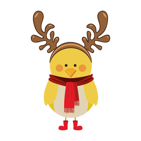 flocks: christmas bird cartoon icon image vector illustration design Illustration