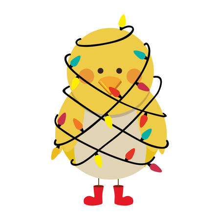 christmas bird cartoon icon image vector illustration design Illustration