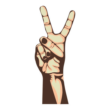 counting two hand gesture icon image vector illustration