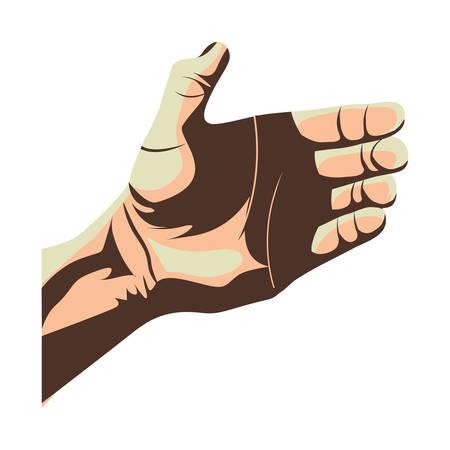 open hand gesture icon image vector illustration Illustration