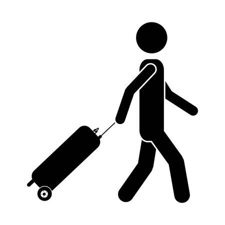 traveler: traveler or passenger icon image vector illustration