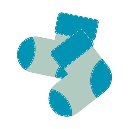 calcetín del niño imagen del icono ilustración vectorial de diseño