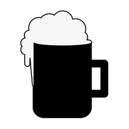 beer glass icon image vector illustration design