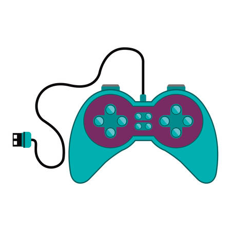 remote control games with usb connector vector illustration Illustration