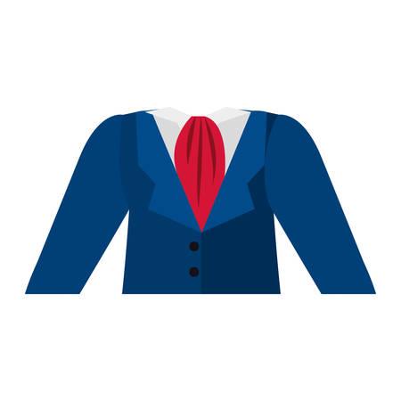 blue dress: dark blue dress flight attendant vector illustration
