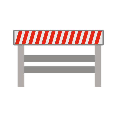 road closed: silhouette with barrier closed road vector illustration