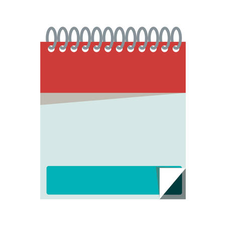 spiral notebook: silhouette with notebook spiral with sheets vector illustration