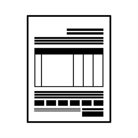 pay bill: monochrome bill document to pay vector illustration