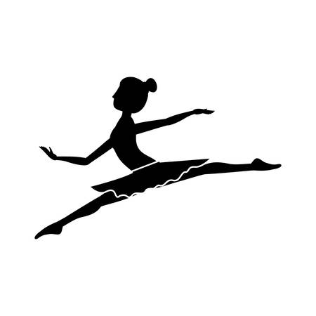 spears: silhouette with dancer position small spears vector illustration Illustration