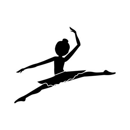 spears: silhouette with dancer pose smal spears vector illustration