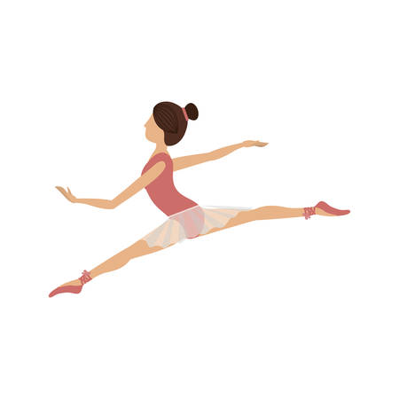 colorful dancer position small spears vector illustration