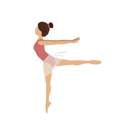 colorful dancer pose fourth arabesque vector illustration Illustration