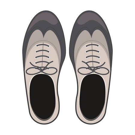 men's shoes: tap shoes for mens with laces vector illustration