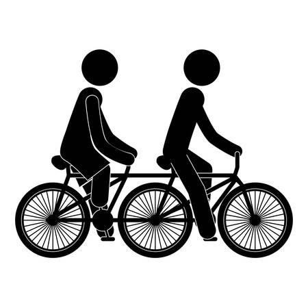 black people: black silhouette people in polycycle vector illustration