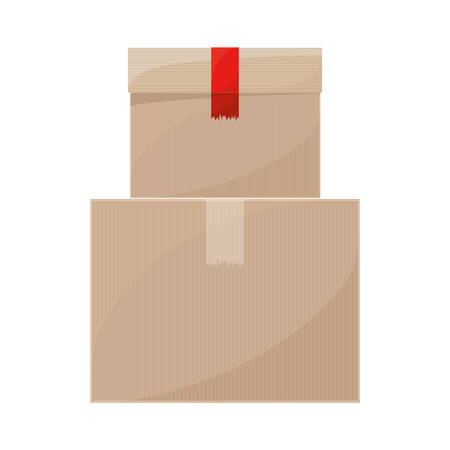 shipper: pair of sealed packaging tape vector illustration