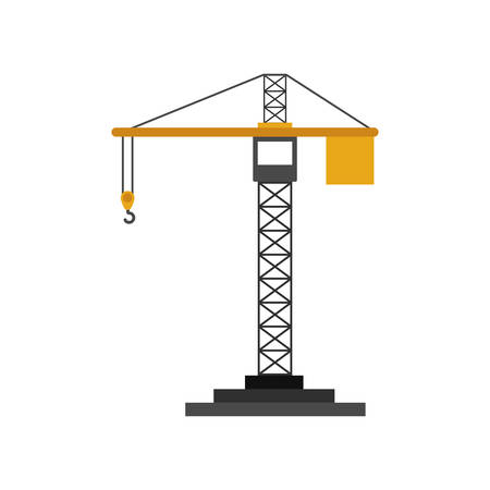 tower crane: colorfull silhouette construction tower crane vector illustration Illustration