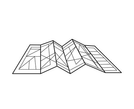 silhouete: silhouete architecture plan with lines vector illustration