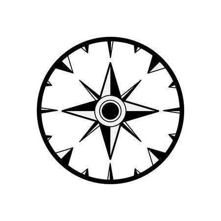 compass rose: vintage compass wind rose icon over white background. navigation and travelling design. vector illustration Illustration
