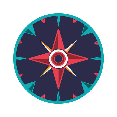 latitude: vintage compass wind rose icon over white background. navigation and travelling theme. colorful design vector illustration