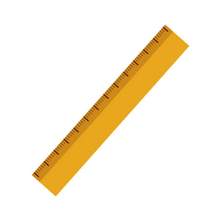centimeter: yellow ruler with centimeter scale over white background. vector illustration Illustration