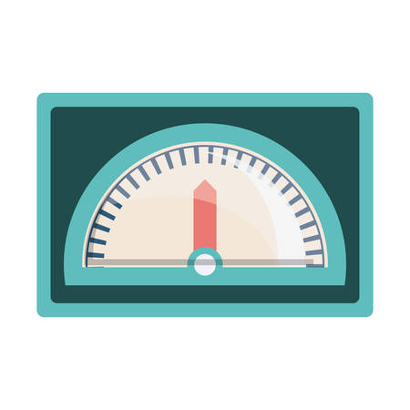 kph: speedometer device icon over white background. vector illustration