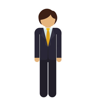 he is beautiful: silhouette man with formal suit vector illustration
